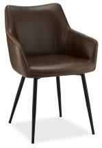 Jídelní židle Zalea tmavě hnědá, černá