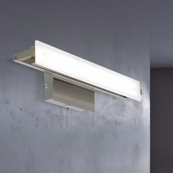 Jil - Nástěnné svítidlo, LED (matný nikl/chrom)