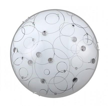 Jolly - Nástěnná svítidla, E27 (bílá se vzory/chrom)