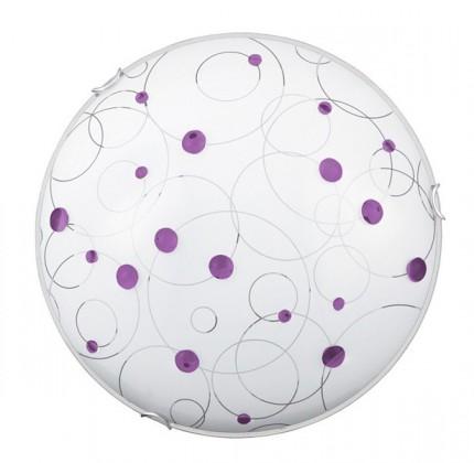 Jolly - Nástěnná svítidla, E27 (fialová se vzory/chrom)