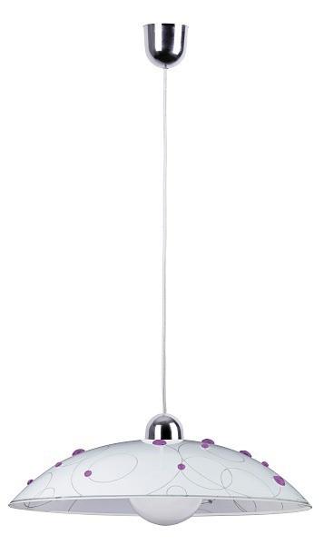 Jolly - Stropní osvětlení, E27 (fialová se vzory/chrom)