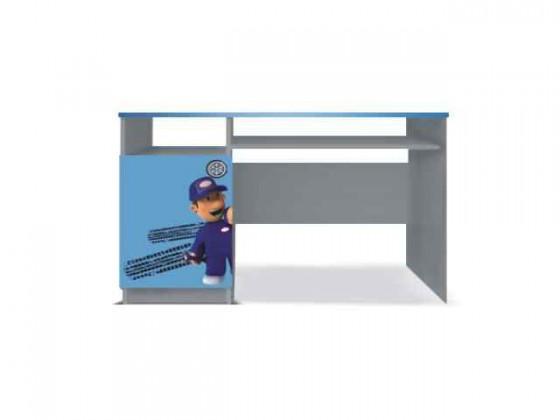 Junior mechanik - PC stůl (šedá/modrá)