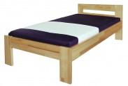 Junior - rám postele, 200x90 (masívní buk, přírodní)
