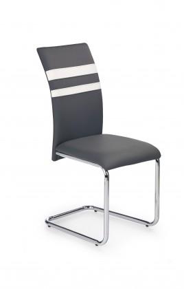 K197 - jídelní židle (eco kůže šedá, chrom)