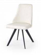 K206 - Jídelní židle, bílá (ocel, eko kůže)