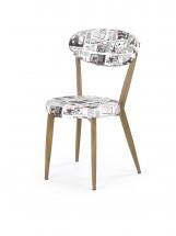 K215 - Jídelní židle (potisk, dub medový