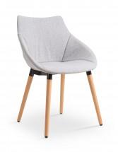 K226 - Jídelní židle (dřevo, látka)