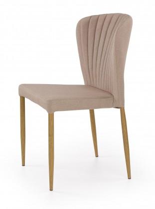 K236 - Jídelní židle, béžová (lakovaná ocel, látka)
