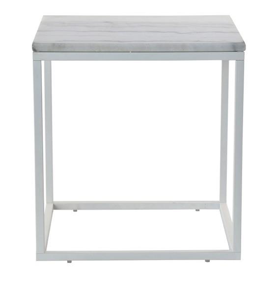 Kamenné konferenční stolky Konferenční stolek Accent - bílý rám (přírodní mramor, ocel)