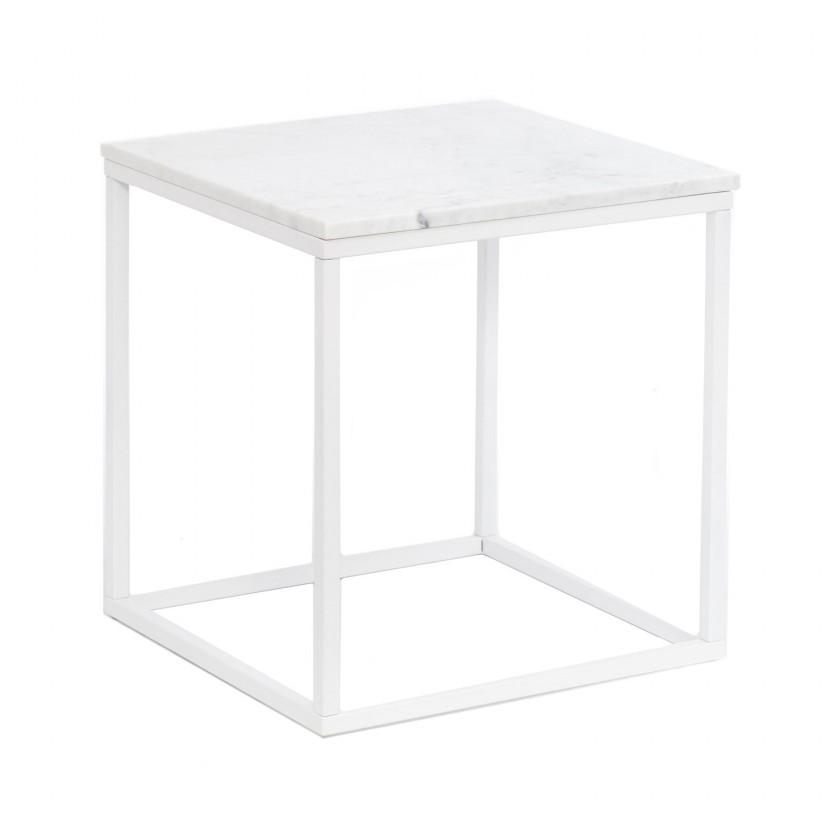 Kamenné konferenční stolky Konferenční stolek Accent - čtverec (mramor, bílá)