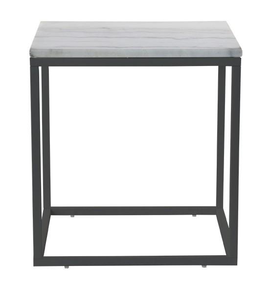Kamenné konferenční stolky Konferenční stolek Accent - tmavý rám (přírodní mramor, ocel)