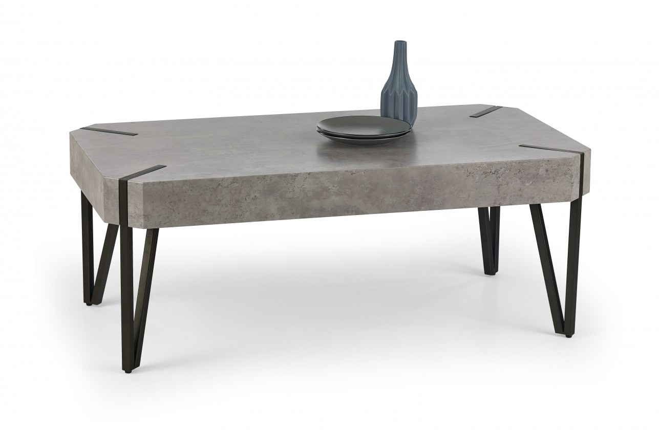 Kamenné konferenční stolky Konferenční stolek Emily (beton/černá)