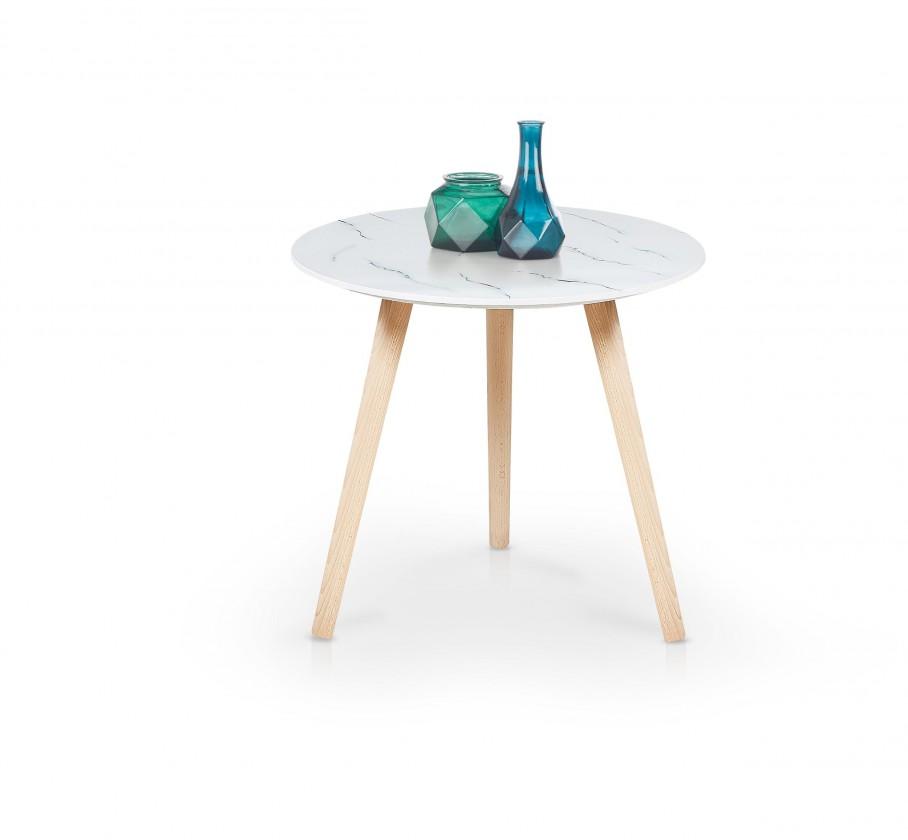 Kamenné konferenční stolky Přístavný stolek Aida (bílá)