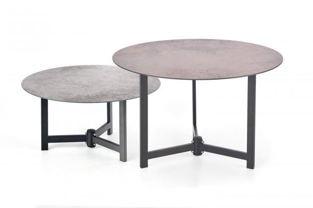 Kamenné konferenční stolky Sada dvou stolků Twins