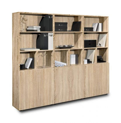 Kancelářská skříň Work - Skříň, 211,5x180x36 (dub)