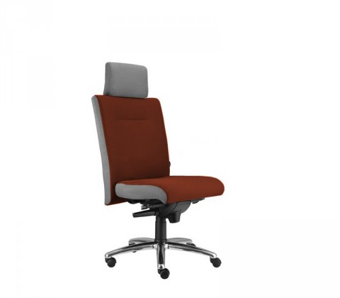 kancelářská židle Asidum s podhlavníkem, synchro P (alcatraz 855, sk.3)