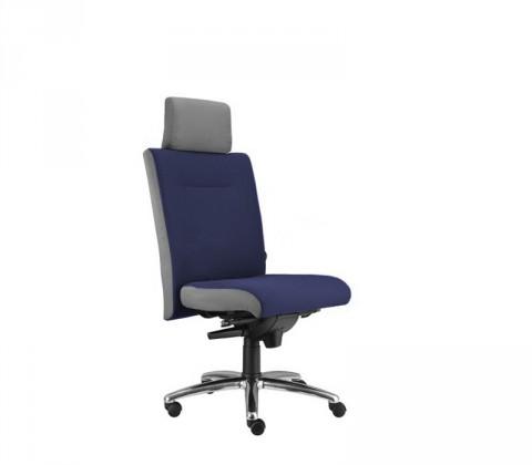 kancelářská židle Asidum s podhlavníkem, synchro P (alcatraz 9, sk.3)