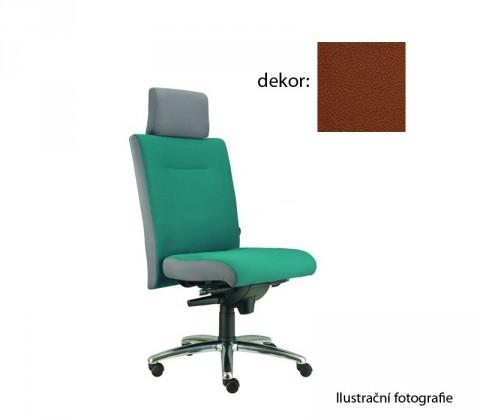 kancelářská židle Asidum s podhlavníkem, synchro P (koženka 40, sk.3)