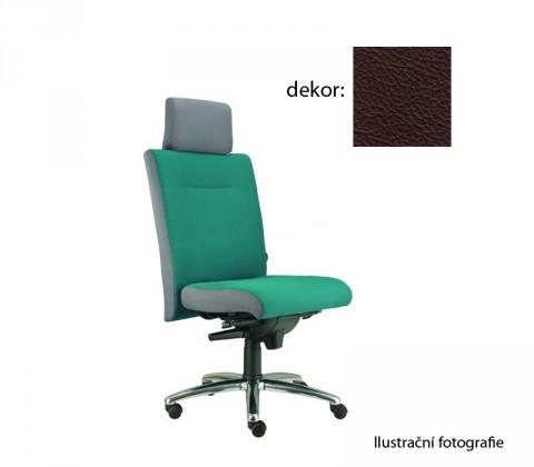 kancelářská židle Asidum s podhlavníkem, synchro P (kůže 177, sk.5)