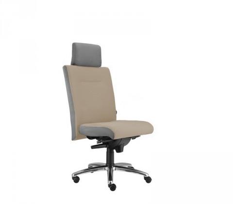 kancelářská židle Asidum s podhlavníkem, synchro P (suedine 109, sk.1)