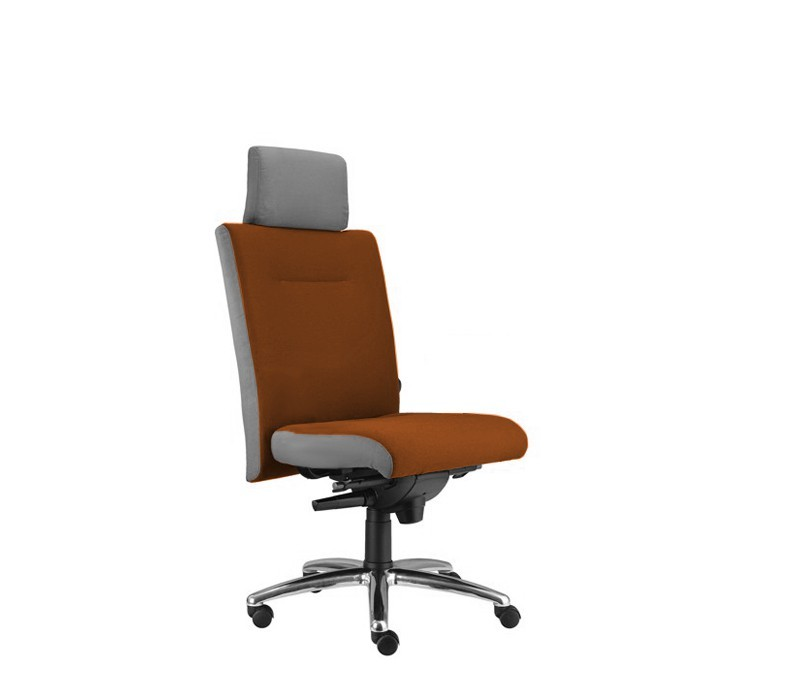 kancelářská židle Asidum s podhlavníkem, synchro P (suedine 11, sk.1)