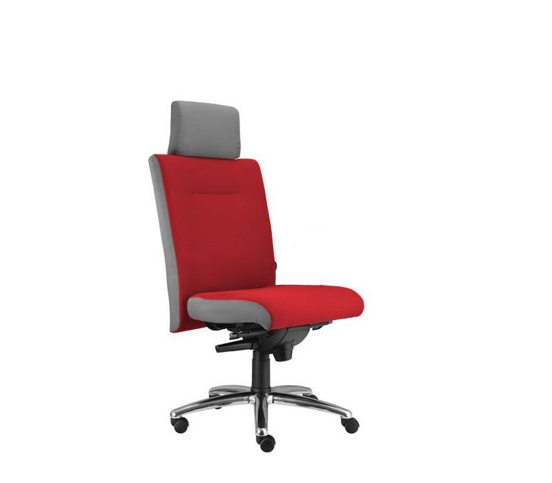 kancelářská židle Asidum s podhlavníkem, synchro P (suedine 2, sk.1)