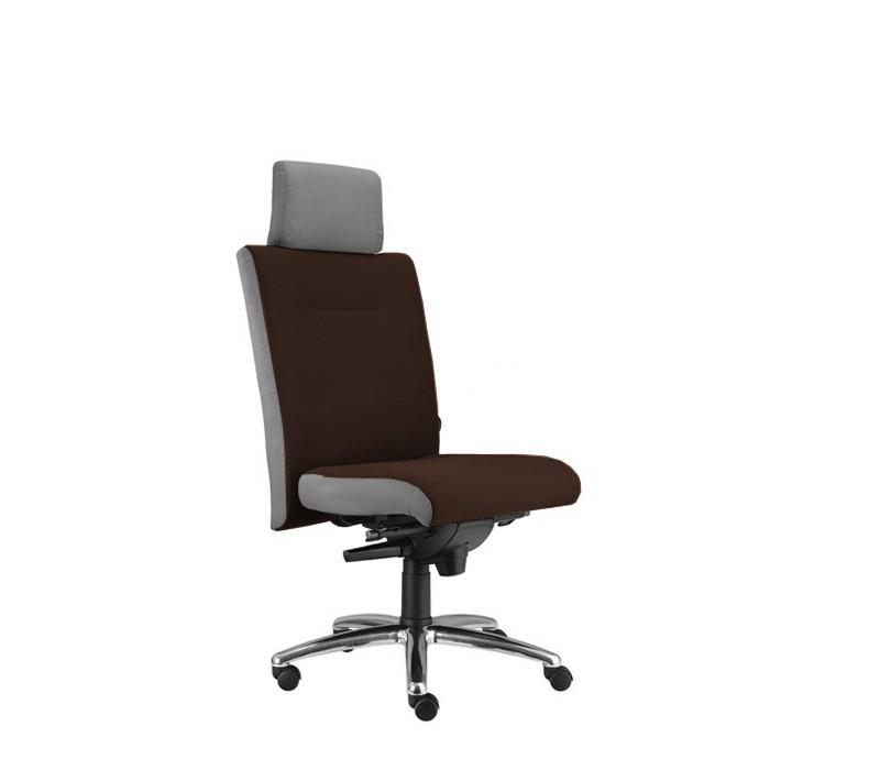 kancelářská židle Asidum s podhlavníkem, synchro P (suedine 21, sk.1)