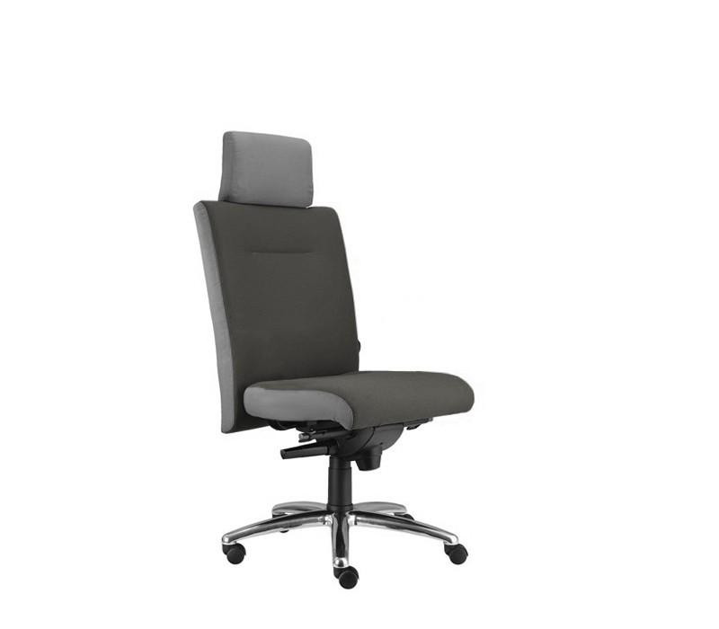kancelářská židle Asidum s podhlavníkem, synchro P (suedine 24, sk.1)