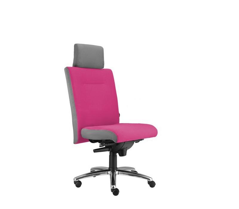 kancelářská židle Asidum s podhlavníkem, synchro P (suedine 41, sk.1)
