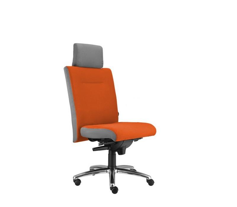 kancelářská židle Asidum s podhlavníkem, synchro P (suedine 46, sk.1)