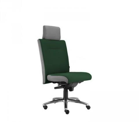kancelářská židle Asidum s podhlavníkem, synchro P (suedine 59, sk.1)