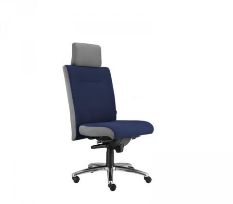 kancelářská židle Asidum s podhlavníkem, synchro P (suedine 9, sk.1)