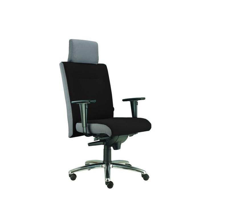 kancelářská židle Asidum s područkami a podhlavníkem,synchro P (alcatraz 17, sk.3)