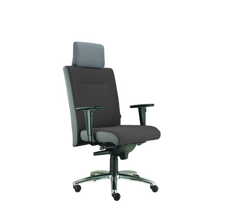 kancelářská židle Asidum s područkami a podhlavníkem,synchro P (alcatraz 19, sk.3)