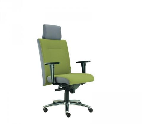 kancelářská židle Asidum s područkami a podhlavníkem,synchro P(alcatraz 848, sk.3)