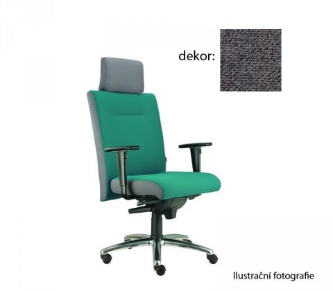 kancelářská židle Asidum s područkami a podhlavníkem, synchro P (favorit 13, sk.1)
