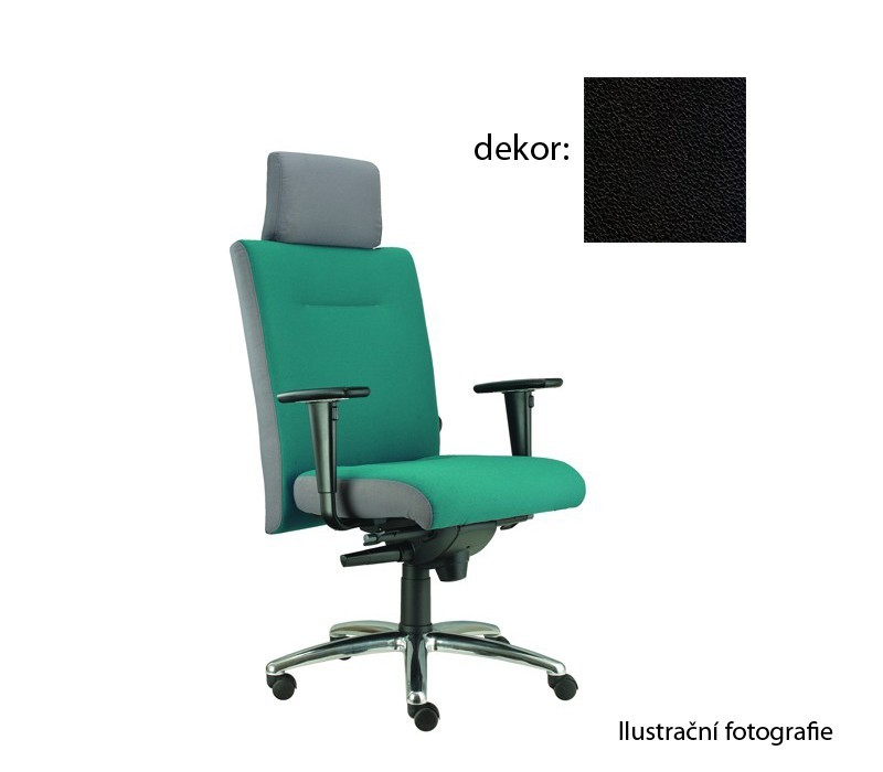 kancelářská židle Asidum s područkami a podhlavníkem, synchro P (koženka 12, sk.3)