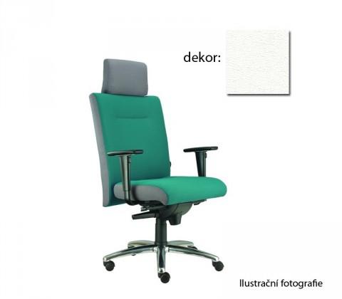 kancelářská židle Asidum s područkami a podhlavníkem, synchro P (koženka 51, sk.3)
