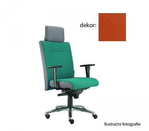 kancelářská židle Asidum s područkami a podhlavníkem, synchro P (koženka 74, sk.3)