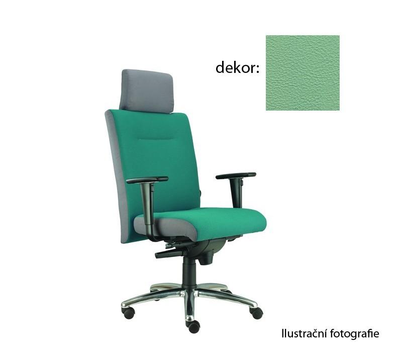 kancelářská židle Asidum s područkami a podhlavníkem, synchro P (koženka 89, sk.3)