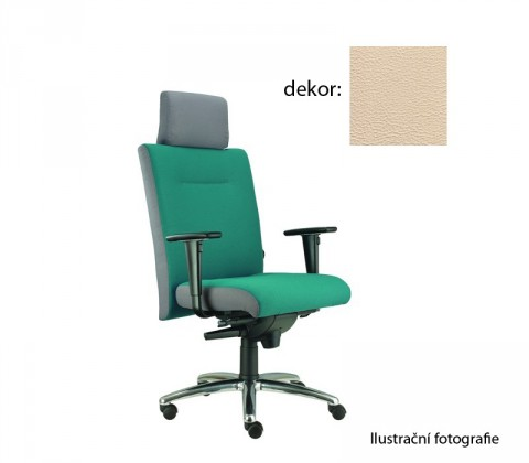 kancelářská židle Asidum s područkami a podhlavníkem, synchro P (koženka 96, sk.3)