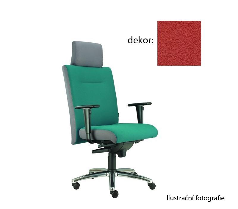kancelářská židle Asidum s područkami a podhlavníkem, synchro P (kůže 163, sk.5)
