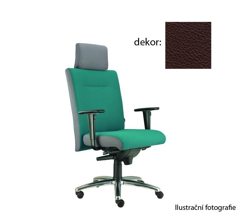 kancelářská židle Asidum s područkami a podhlavníkem, synchro P (kůže 177, sk.5)