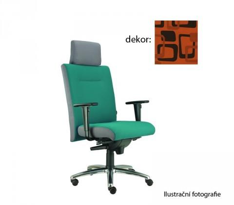 kancelářská židle Asidum s područkami a podhlavníkem, synchro P (norba 76, sk.4)