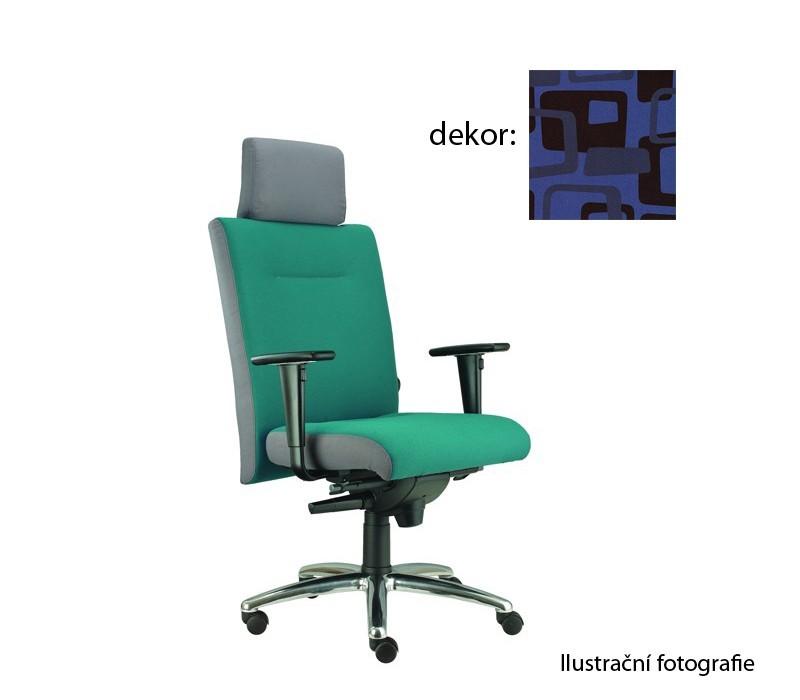 kancelářská židle Asidum s područkami a podhlavníkem, synchro P (norba 82, sk.4)