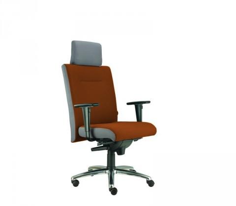 kancelářská židle Asidum s područkami a podhlavníkem, synchro P (suedine 11, sk.1)