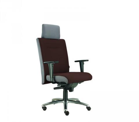 kancelářská židle Asidum s područkami a podhlavníkem, synchro P (suedine 21, sk.1)