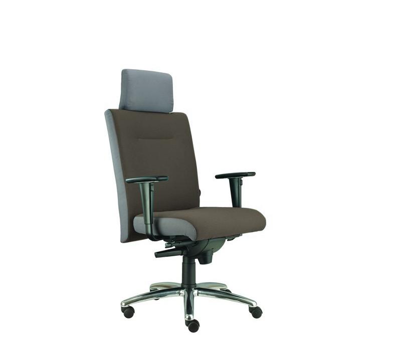 kancelářská židle Asidum s područkami a podhlavníkem, synchro P (suedine 24, sk.1)