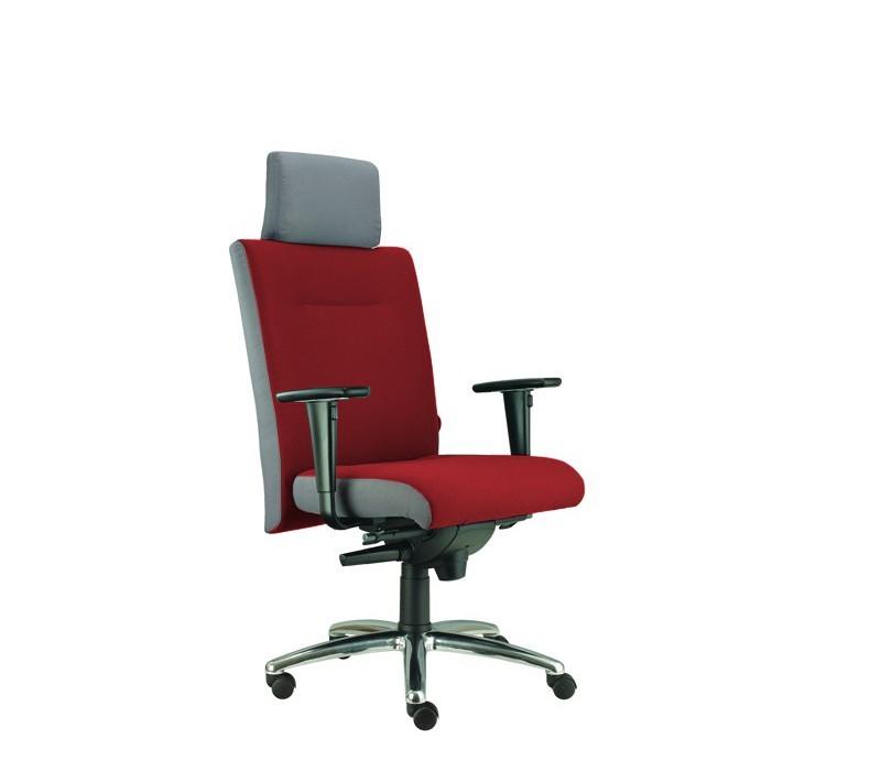 kancelářská židle Asidum s područkami a podhlavníkem, synchro P (suedine 29, sk.1)