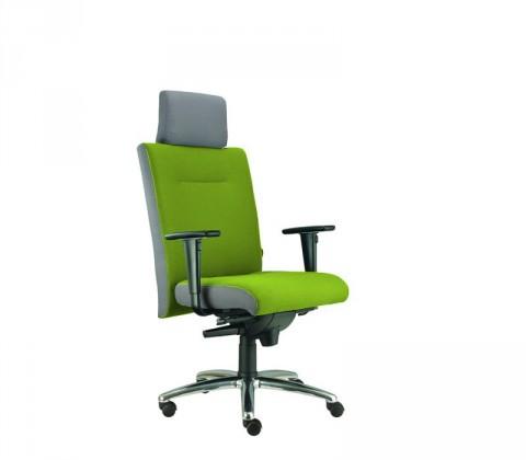 kancelářská židle Asidum s područkami a podhlavníkem, synchro P (suedine 34, sk.1)